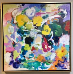 Vines, original 36x36 abstract expressionist painting