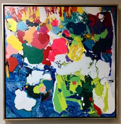 Euphoria, original 36x36 abstract expressionist painting