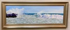 Untamed, original 12x36 seascape