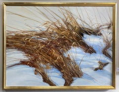 Grain in Snow, original 36x48 contemporary landscape