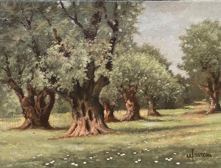 Marcel Favreau - Les Oliviers de Auguste Renoir, original French  impressionist landscape For Sale at 1stDibs