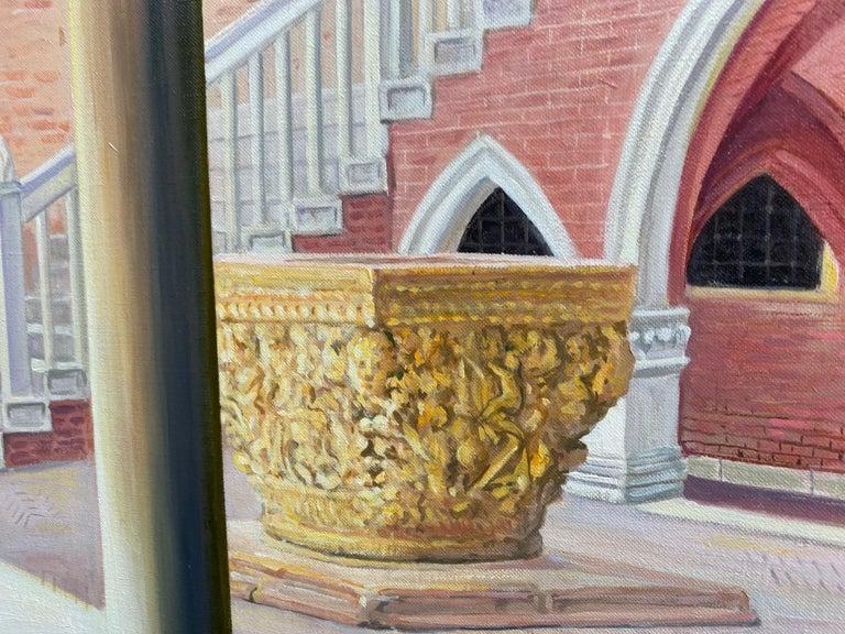 Ca d'Oro, original 28x42 realistic Italian interior landscape For Sale 1