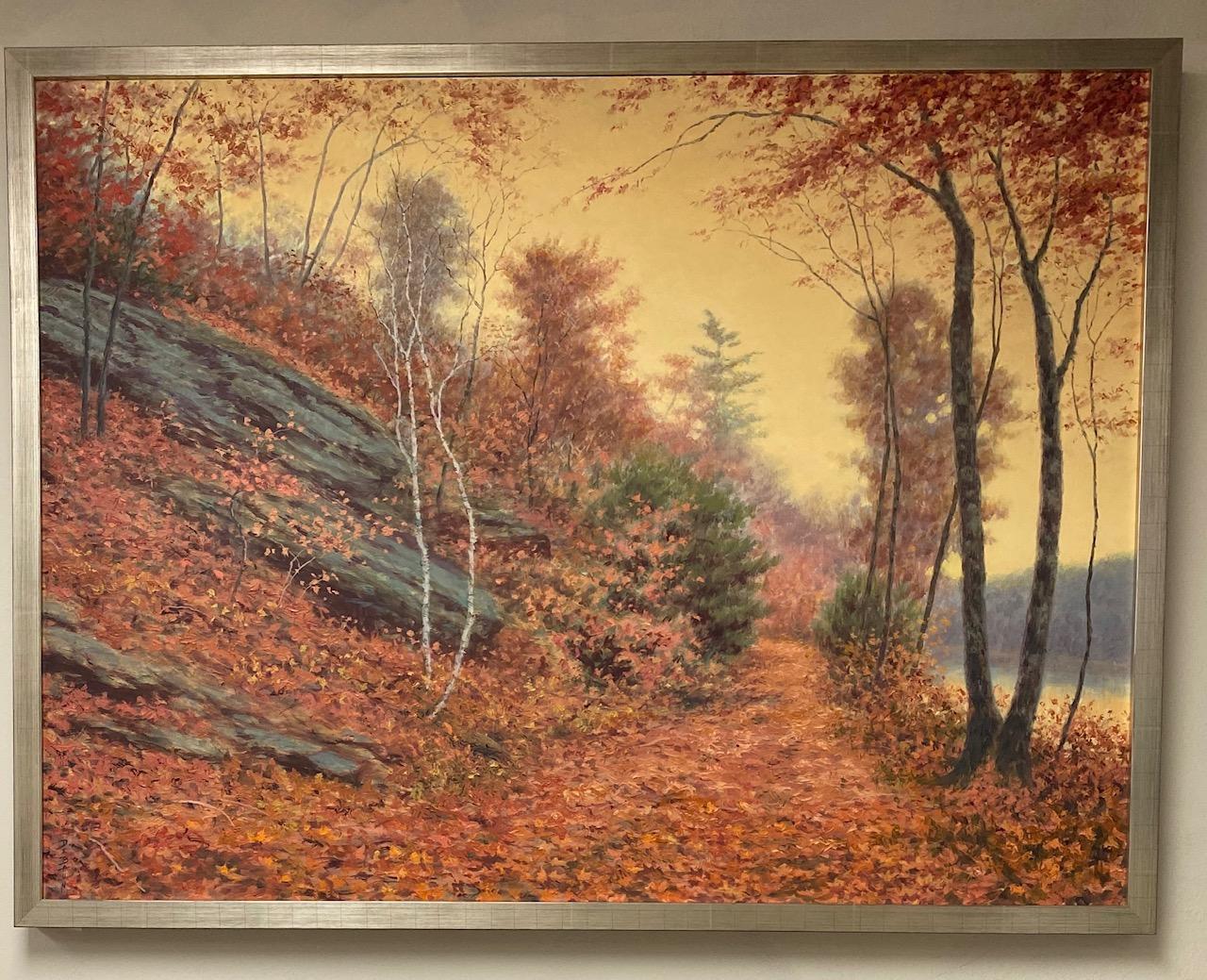 In the Still of Autumn, original 36x48 realistic landscape