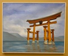 Itsukushima, original 24x30 Japanese popart landscape
