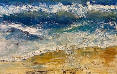 Wave Play, original 24x36 abstract expressionist marine landscape