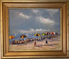 Summer Day, original 24x30 impressionist marine landscape