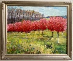 Red Velvet, original 24x30 expressionist landscape