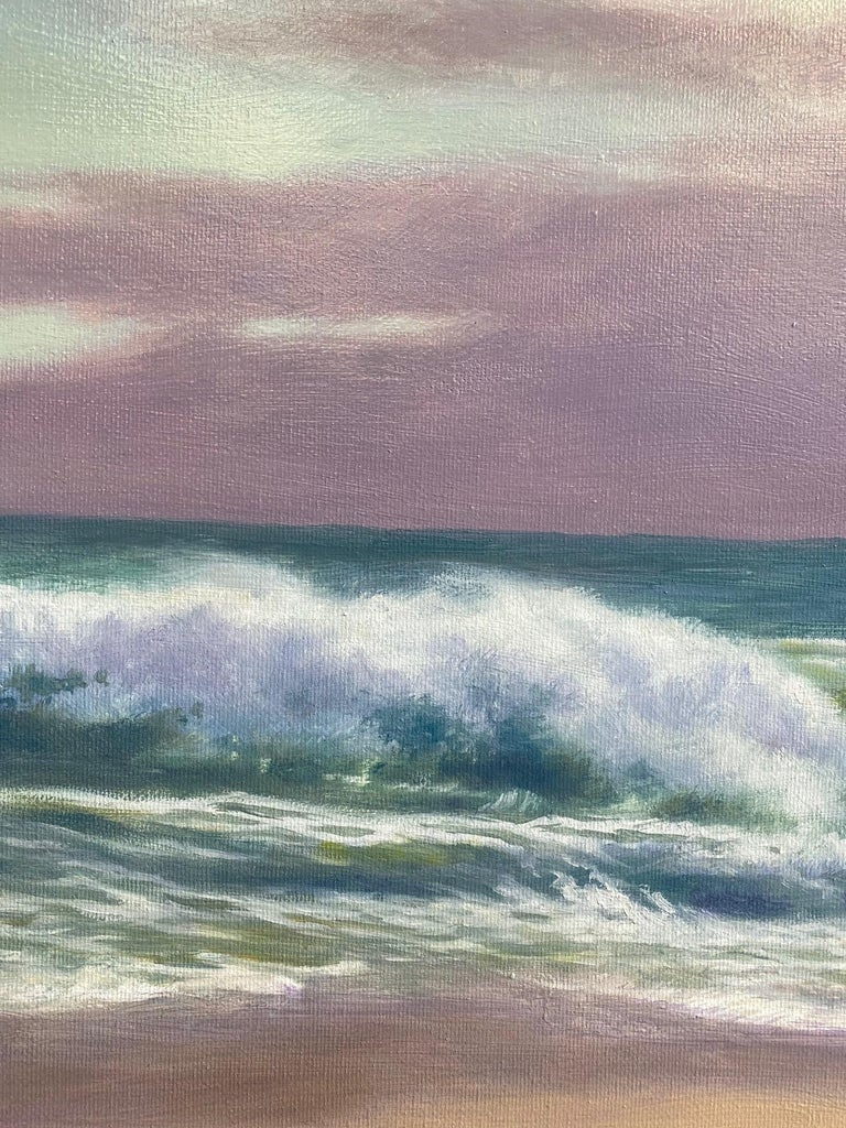 The Breakers, original 18x24 impressionist marine landscape For Sale 2