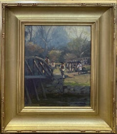 Minutemen,  Shot Heard Round the World historic impressionist landscaape