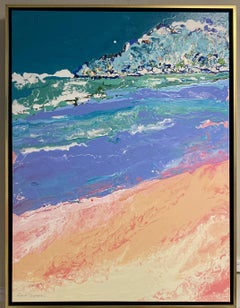 Beaches, original 40x30 abstract expressionist marine landscape