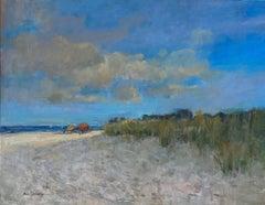 Beach in Midsummer, original 36x48iimpressionist marine landscape
