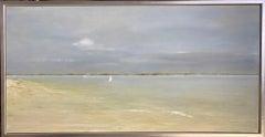 A Beach Day, original 24x48 contemporary marine landscape