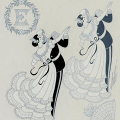 Erte Ermyntrude and Esmeralda