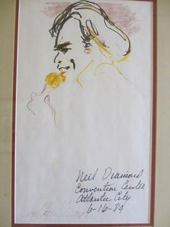 "Leroy Neiman Neil Diamond"" 6/16/1984 Atlantic City"