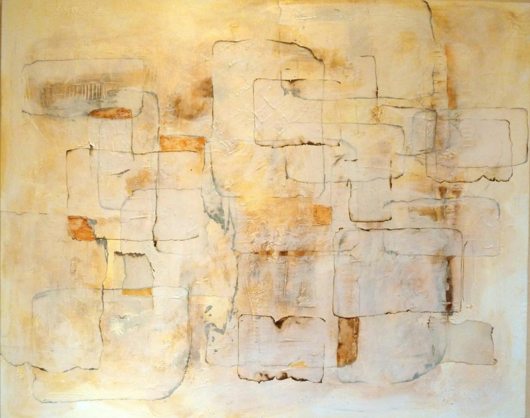 Resolution by Louis Shields, Abstract Mixed Media on Canvas, 2012