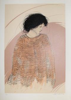 Riccardo Benvenuti - Woman in Striped Dress