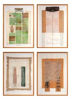 "Murat Morova - ""Dil + Suret"" Composition - Mixed Media - Modern Turkish Artworks"