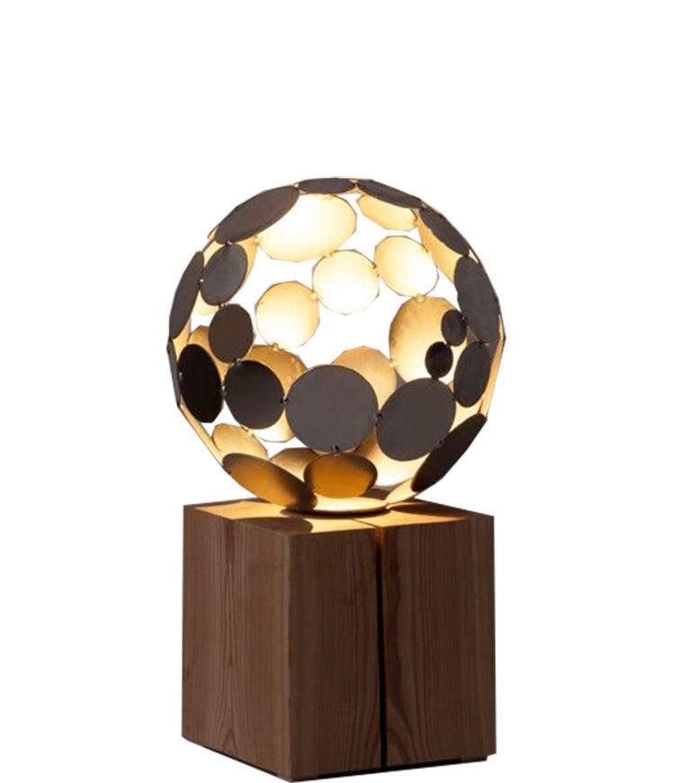 Stefan Traloc Abstract Sculpture - Globe Light - contemporary sculpture small