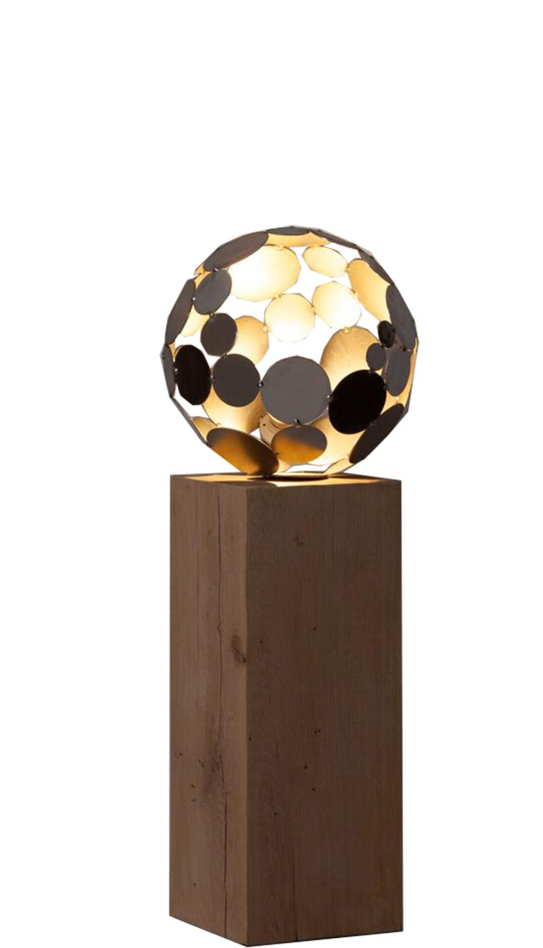 Globe Lighting - Contemporary Sculpture large - Mixed Media Art by Stefan Traloc