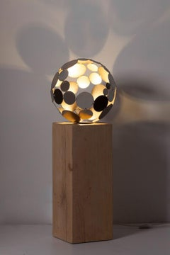 "Outdoor Lamp - ""Globe"" - contemporary sculpture - Tall"