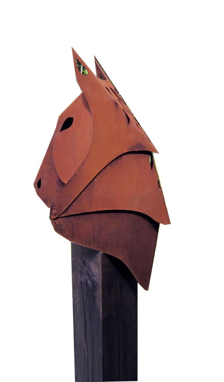 Stefan Traloc Abstract Sculpture - Horse - Firepit - Contemporary sculpture