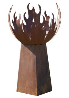 "Firepit ""Flame"" With Angled Pedestal - Low"