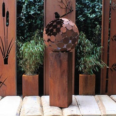 """Firepit """"Globe"""" With Pedestal - Tall"""