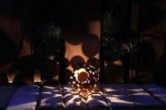"Outdoor Lamp - ""Globe"" - iron oxide art decoration"