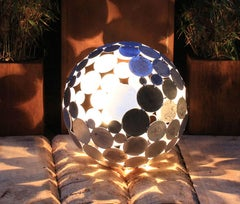 "Outdoor Lamp - ""Globe"" - galvanised art garden decoration - 55cm"