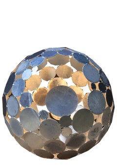 "Outdoor Lamp - ""Globe"" - Galvanised - ART - garden decoration - 55cm"