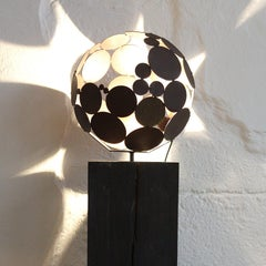 Indoor Lamp on OAK stand - Iron Oxide