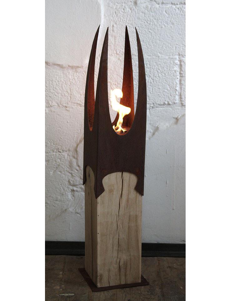 Oak Column & Garden Torch