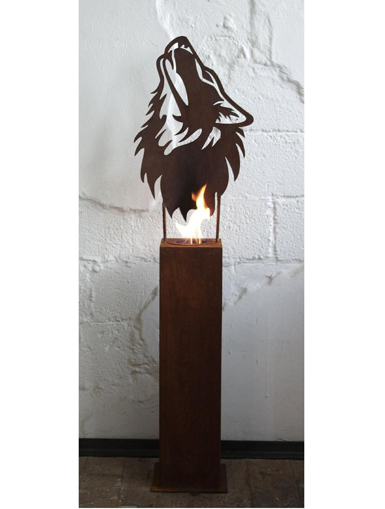 This torch is the eye-catcher in your garden. Due to good air supply, you can very quickly light a beautiful fire. There are lavastones in the provided burner wich has to be filled with bio-ethanol. Of course you can also plant it.  The burner full