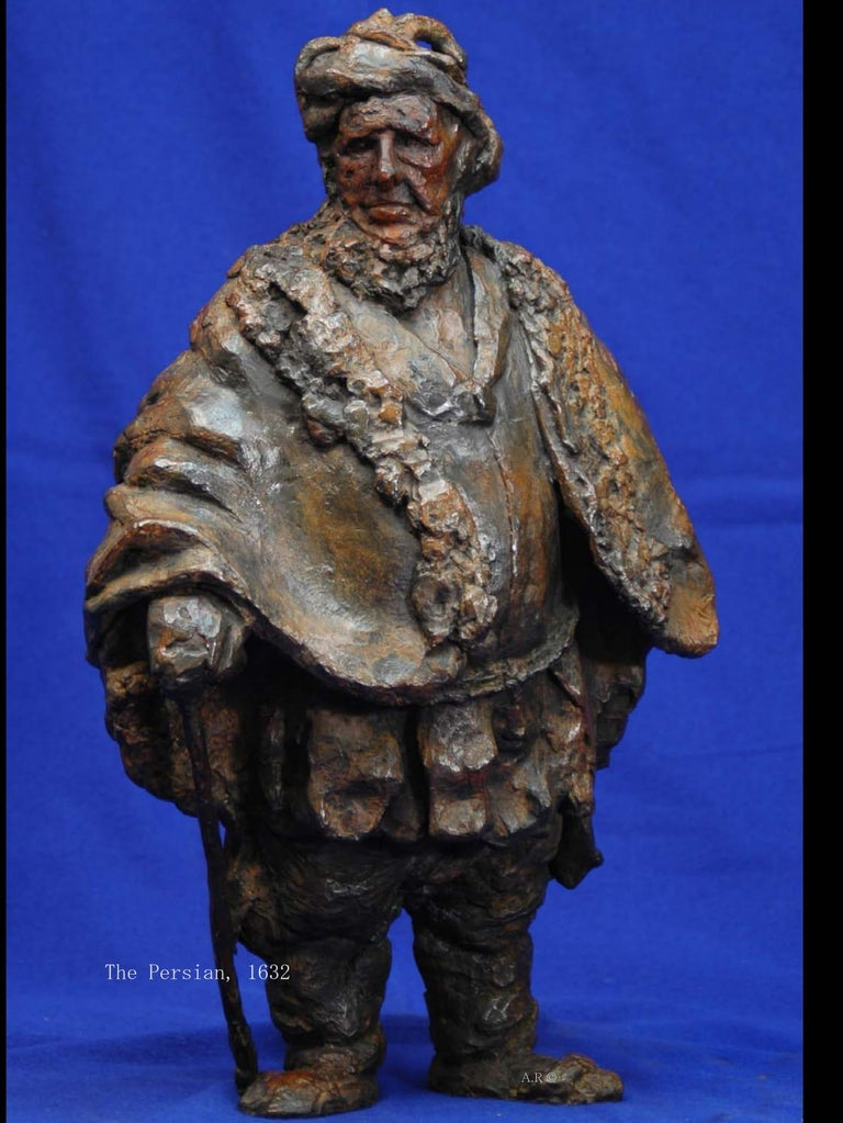 "Rembrandt in Bronze: ""The Persian - Sculptures of original Etching"".  After the original etching of  1632.  ""Painting in Bronze"" Is a series of bronzes, true to the spirit of Rembrandts original etchings. The serie was recieved with great"