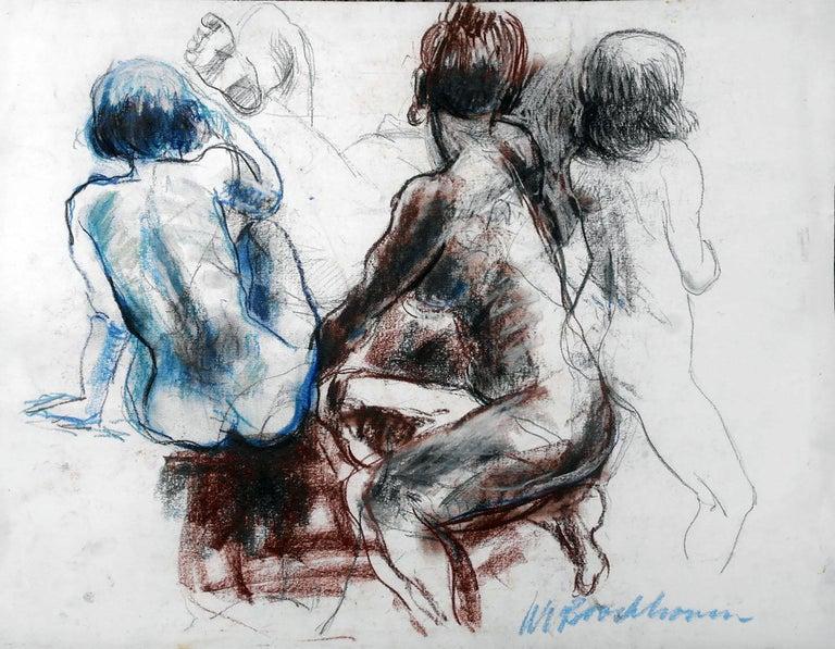"""Wim van Broekhoven """"Study 1"""" Nude - Painting by Wim van Broekhoven"""