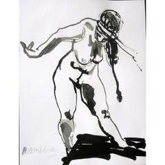 """Wim van Broekhoven """"Standing Nude"""" Nude"""