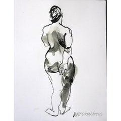 """Wim van Broekhoven """"Standing Back Nude"""" Nude"""