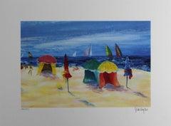 "Serge Desnoyers - ""Activity On The Beach"""