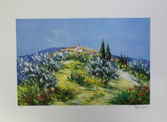 """Marcel Belvisi - """"Small village on a hill"""""""