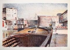 "Mario Madiai - ""Barcone in Venice"""