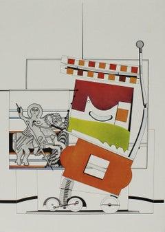 "Nils Haglund - ""Abstract Coachman with Wagon"""