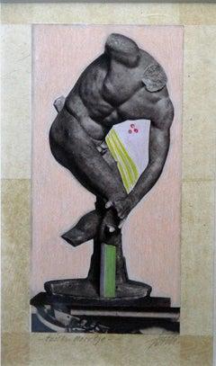 One of a kind Figurative Art - Wim Jonkman - Imbiss - Stone Pressured Litho