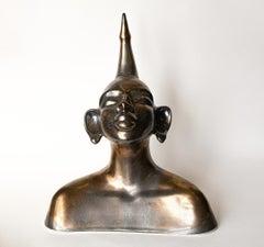 "Lina Gonchar - ""Lina I"" - Unique Ceramic Sculpture - Coated in Gold"