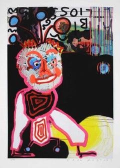 "Paul Kostabi - ""Heading to Miami"" - Edition 75 - Giclée Print Handmade Cotton"