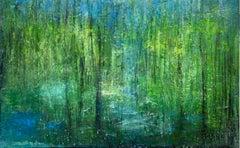 """Annette Selle - """"Breath"""" - unique original landscape oil painting on canvas"""