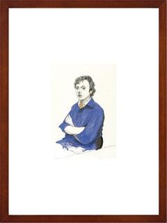 "David Hockney - ""Gregory Evans, Los Angeles. 18th September"" - framed art print"