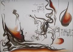 "Christina Schnell - ""Schizophrenic Landscape"" - surrealist landscape drawing"