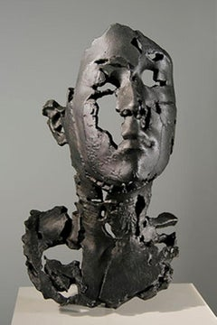 L Degrade, 2014, bronze with black patina sculpture cast from a 3D print