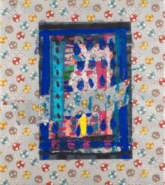 Abstract Collage, Japanese Washi Paper, Tohoku V