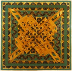 Kaleidoscope, Margaret Wharton, oil on inlaid wood panel, unframed